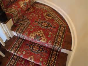 Oriental Carpet Runners For Stairs by Custom Hand Knotted Oriental Stair Runner Installed On