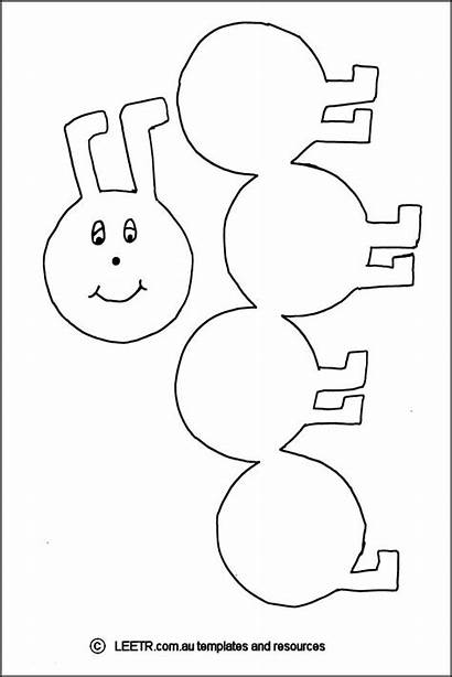 Caterpillar Printable Template 0to5 Templates Word Crafts