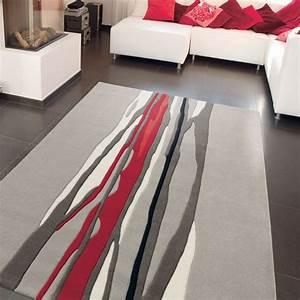 Tapis Salon Moderne : tapis de salon red trace par arte espina ~ Teatrodelosmanantiales.com Idées de Décoration