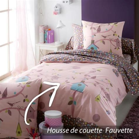 200 x 200 cm 2 taies d'oreiller : Housse de couette 200x200 cm 100% coton FAUVETTE - Achat / Vente housse de couette - Cdiscount