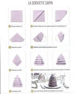 pliage de serviette en forme de sapin la p tite cuisine