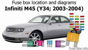 Fuse Box Location And Diagrams  Infiniti M45  Y34  2003