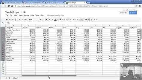 Budgeting Sheets Template Budget Template Sheets Beepmunk