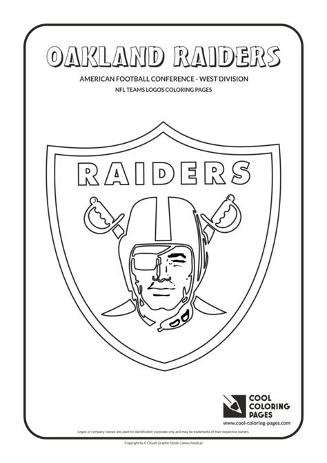 cool coloring pages oakland raiders nfl american