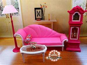 the new large scale furniture accessories pink for barbie With scale of furniture for living room