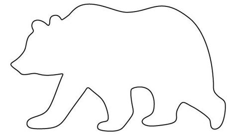 grizzly bear pattern   printable pattern  crafts