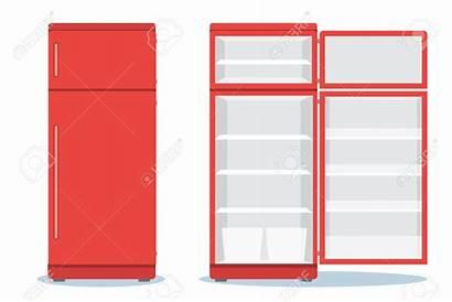 Clipart Refrigerator Empty Clip Open Shelf Shelves