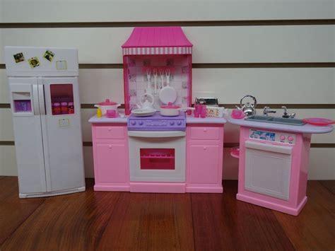 Barbie Size Dollhouse Furniture  Kitchen Set  Ebay