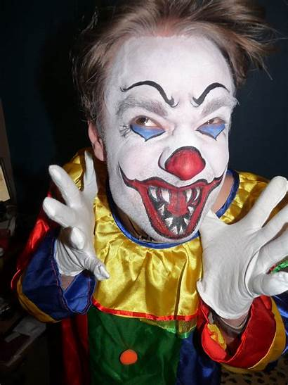Face Clown Paint Scary Clowns Parties Paintings