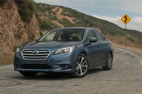 2015 Subaru Legacy 25i Limited Front Side View With Road