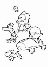 Pocoyo Coloring Pages Rush Gold Friends California Colouring Sheets Getcolorings Printable Getdrawings Colorings sketch template