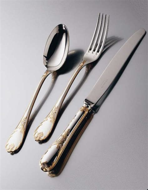 sterling silver knife christofle marly cutlery in silver plated w gold decor
