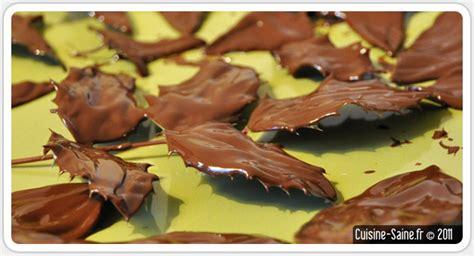 feuille cuisine cuisine bio feuilles en chocolat cuisine