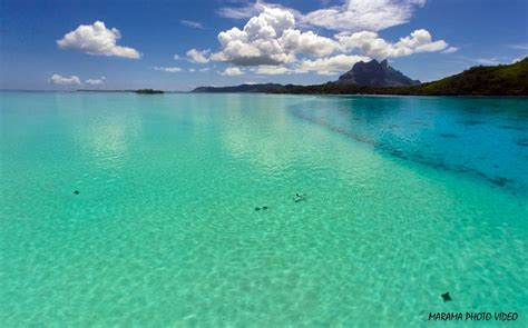 Bora Bora lagoon, French Polynesia | Dronestagram