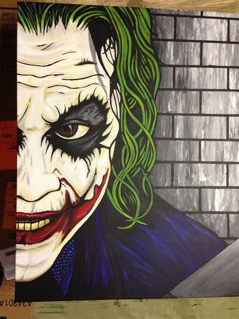 pin  tk  batman joker canvas art painting joker