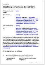 terms conditions   bookkeeper template agreement