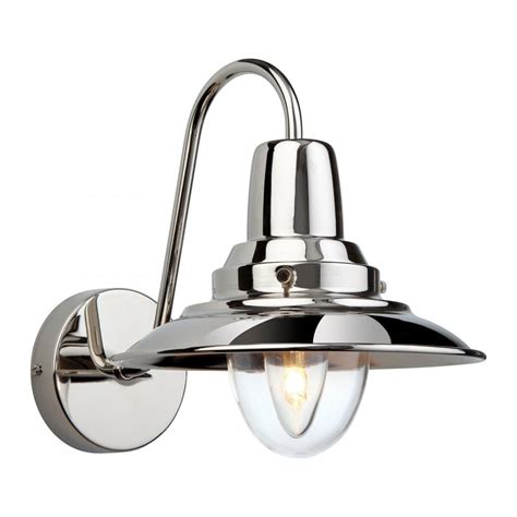retro design wall light in polished chrome finish