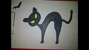 Zeichnungen Mit Bleistift Für Anfänger : schwarze katze mit fledermaus f r halloween zeichnen f r anf nger youtube ~ Frokenaadalensverden.com Haus und Dekorationen