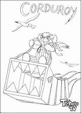 Corduroy Bear Coloring Printable Overalls Sheet Template sketch template
