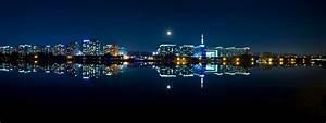 Free Images : water, horizon, light, skyline, city ...