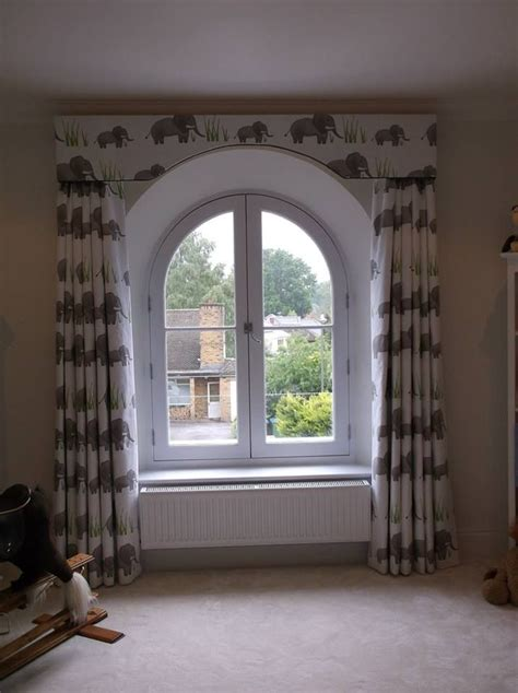 Arched Window Blinds by Arched Pelmet To Echo Window By Honeybee Handmade Shaped
