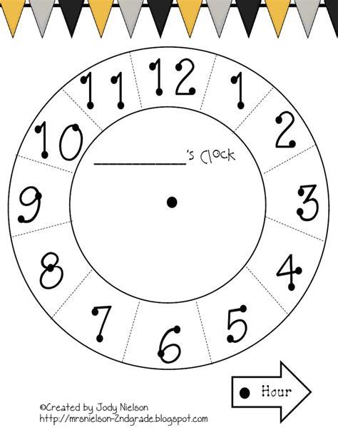 paper plate clock templatepdf st grade math clipart