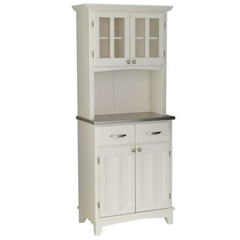 small kitchen hutch cabinets home styles 2 drawer 31 25 in w white buffet with 5466