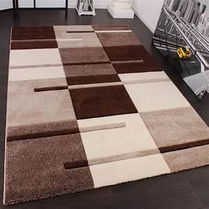 49e4fc84cb1a29 designer teppich mit konturenschnitt karo muster beige braun wohn und  schlafbereich designer
