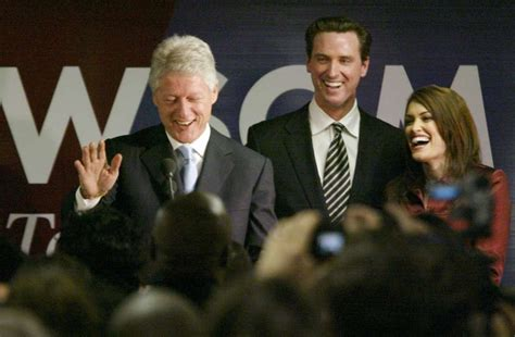 guilfoyle kimberly gavin newsom his wife michael hq bill campaign chronicle clinton maloney stopped former president offer support workers right