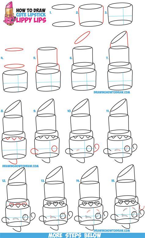 draw lippy lips cute lipstick  shopkins