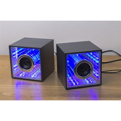 light up subwoofers light up led infinity mirror effect cube speakers