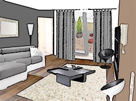 canapé chocolat comment aménager un salon à partir d 39 un espace vide