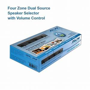 Four 4 Zone Dual Source Speaker Selector With Volume
