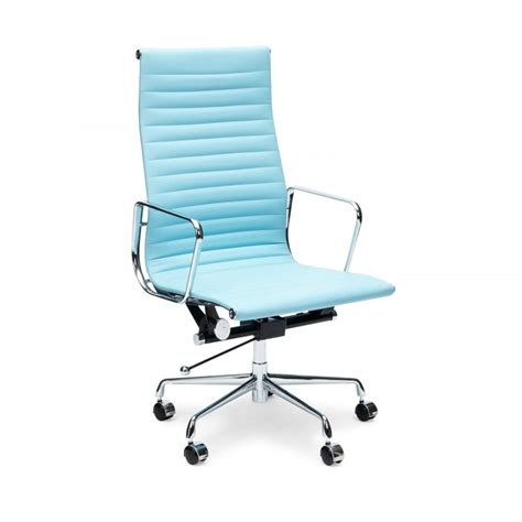 light blue desk chair eames inspired light blue ribbed style office chair