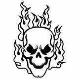 Skull Coloring Pages Flaming Skulls Crossbones Flames Drawing Pirate Fire Domo Face Half Heart Colouring Bones Printable Sheets Simple Getdrawings sketch template