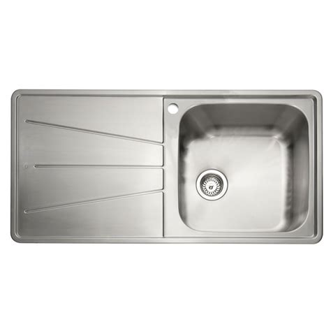 inset kitchen sinks stainless steel caple blaze 100 1 0 bowl inset kitchen sink sinks taps 7528