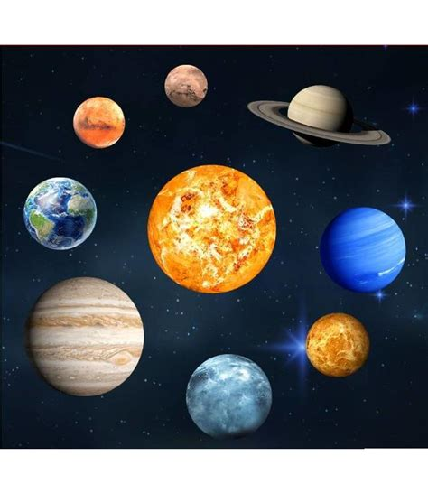 accessoires kinderkamer planeten muursticker glow in the dark zonnestelsel muurstickers