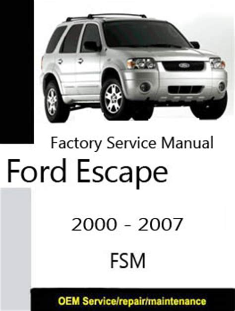 online auto repair manual 2007 ford escape on board diagnostic system ford escape 2000 2007 repair manual
