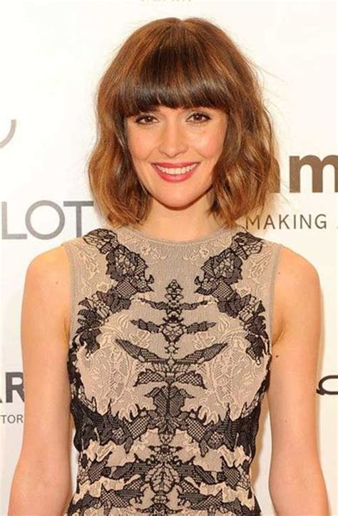 20 Short Wavy Hairstyles With Bangs   Short Hairstyles