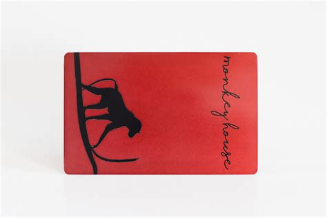 Metallic Red Stainless Steel Cards