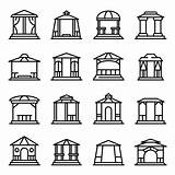 Vector Icons Gazebo Premium Outline Canopy Overhang Shed sketch template