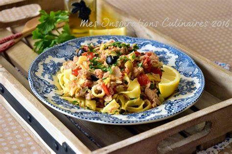 recette cuisine simple pates au thon tomates et olives le cuisine de samar