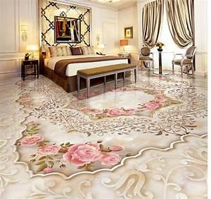 marble cameo parquet floor custom photo self adhesive 3d With parquet mural
