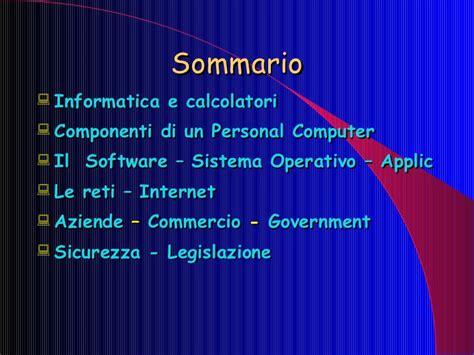 dispense informatica di base informatica di base