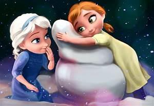 Frozen - little Elsa i Anna by MartaDeWinter on DeviantArt