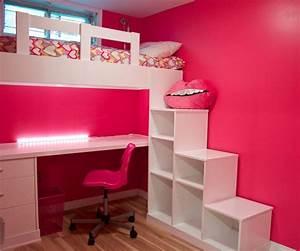 cozy kids bedroom using bunk bed desk combo ideas bedroom With choose design for bunk beds for girls
