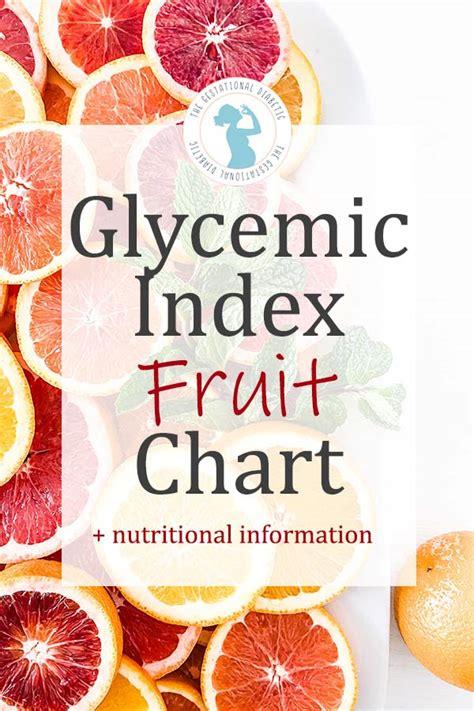 fruits glycemic index fruit list  diabetes