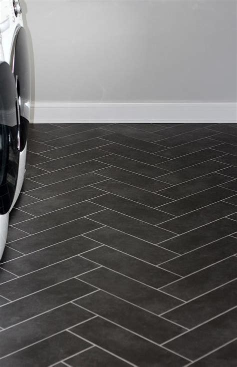 Herringbone Tile Laundry Room Floor Design Ideas
