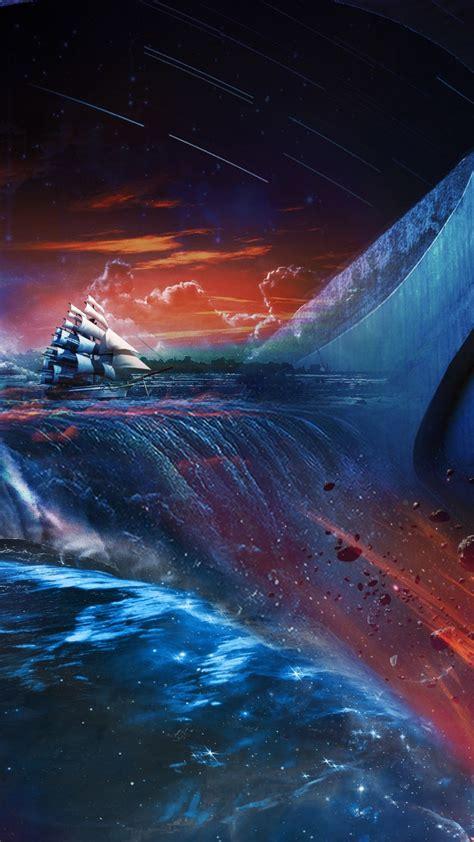 wallpaper ship drowning hd creative graphics