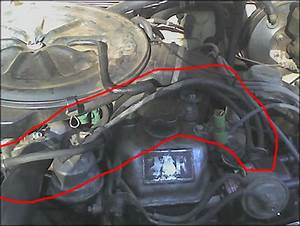 84 22r Disconnected Vacuum Lines Sensors  Switches